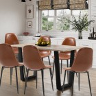 Dudley Large Dining Table (1.5m) Set with 6 Chairs