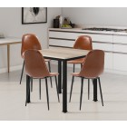 Dudley Square Dining Table Set with 4 Chairs