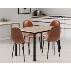 Dudley Dining Table (1.2m) Set with 4 Chairs