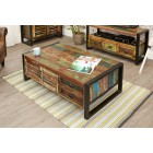 Urban Chic 4 Door 4 Drawers Large Coffee Table