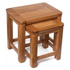 London Dark Oak Nest of Two Tables
