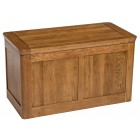 London Rustic Oak Blanket Box