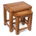 London Oak Nest of Two Tables