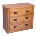 London Oak 2 Over 2 Chest