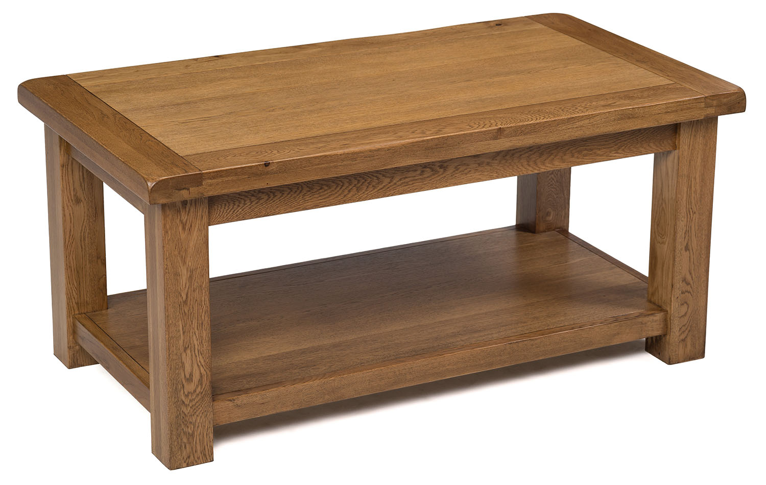 Large Dark Oak Coffee Table Solid Wood Rectangular Lounge Storage Ebay