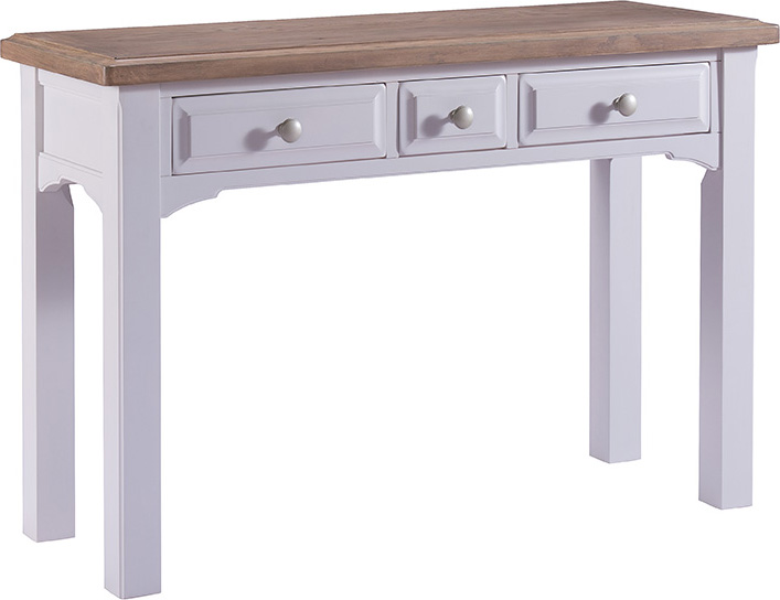 Grey Painted Oak Dressing Table Console Table Wooden Makeup Vanity
