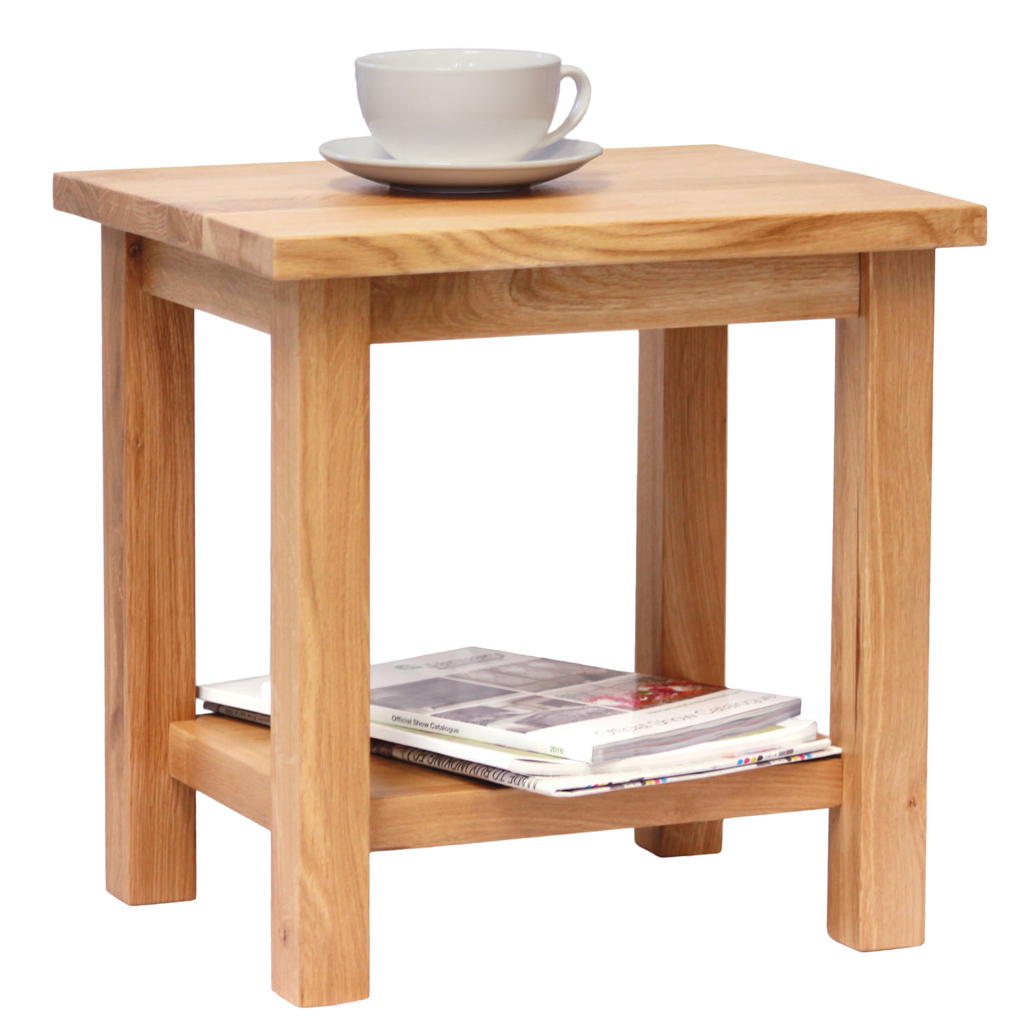 Small oak side table wooden end lamp table bedside for Small wooden side table
