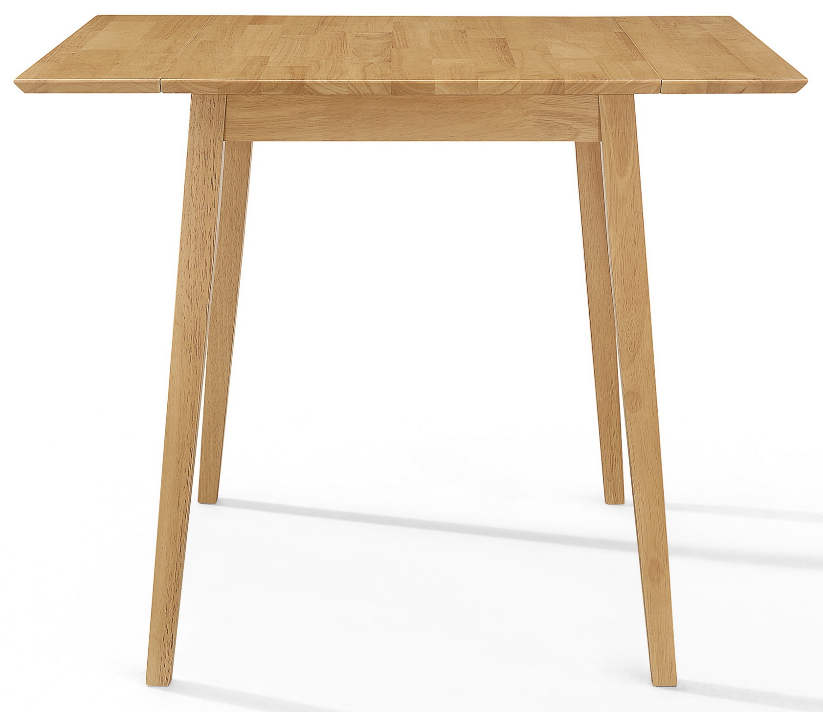 Small Wooden Kitchen Drop Leaf Dining Table In Oak Finish 100 Solid Wood Ebay