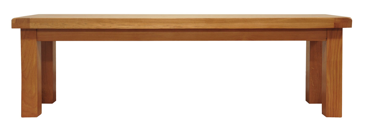 Oak Dining Bench Chunky Wooden Seat For Dining Kitchen
