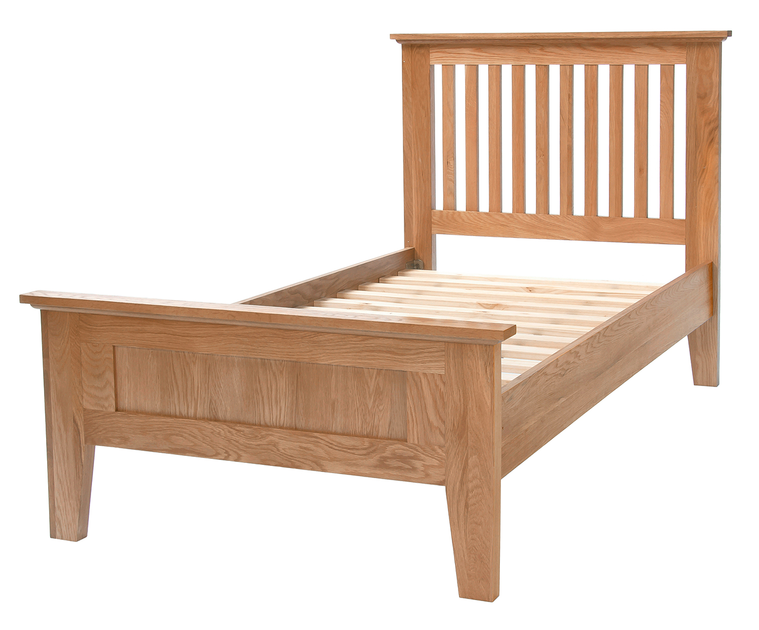 3 Single Oak Bed Frame