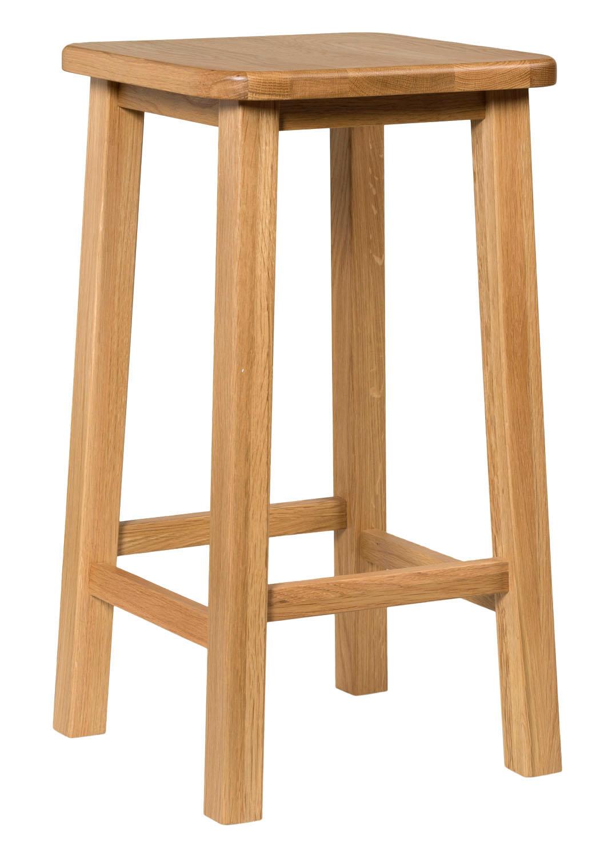Oak kitchen breakfast bar stools solid wood stool