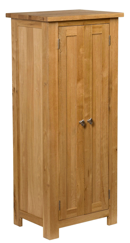 Small oak storage cupboard wooden filing cabinet shoe for Bathroom cabinets 50cm wide