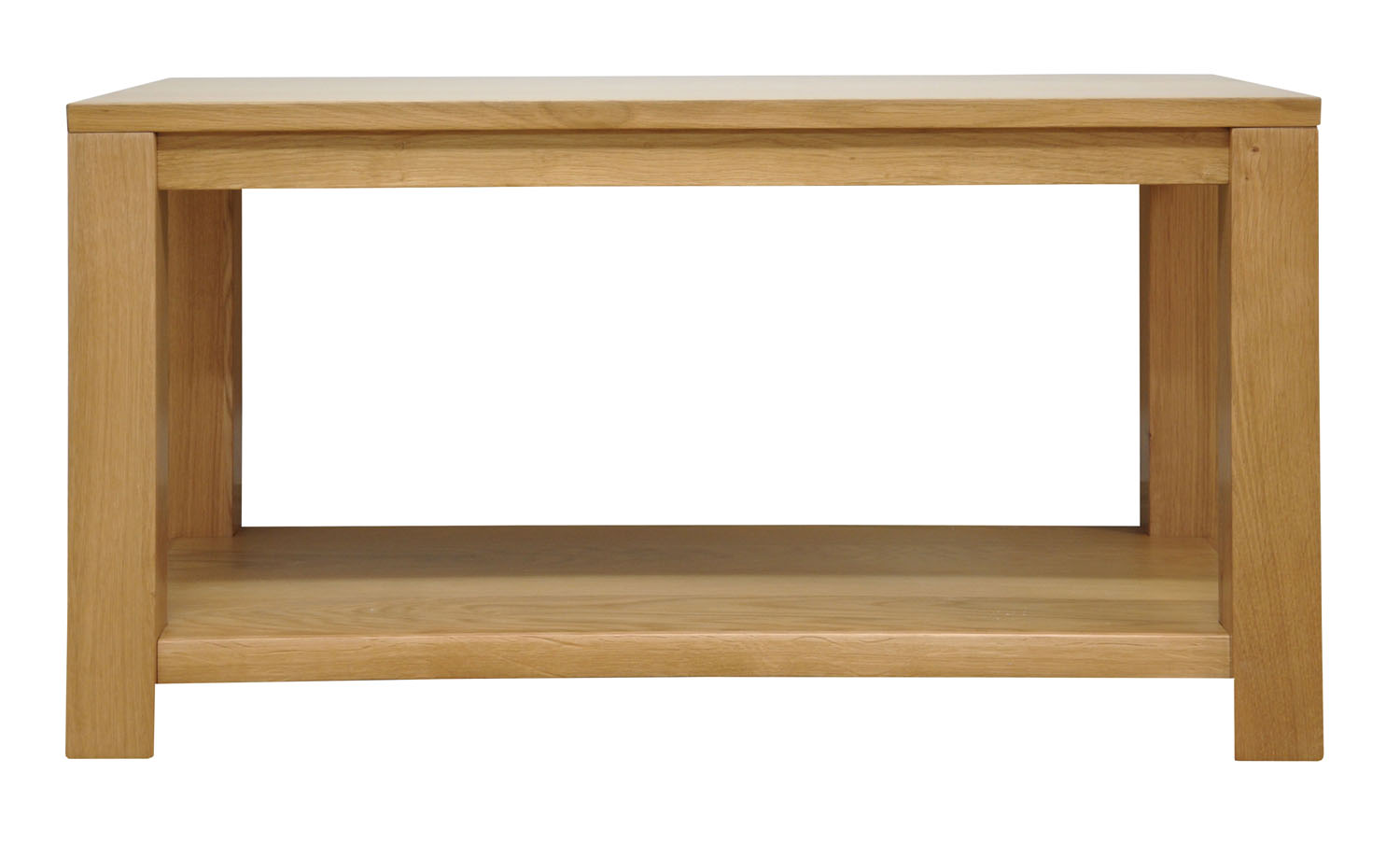 Small Oak Coffee Table With Shelf Wooden Tv Stand Lounge Storage Ebay