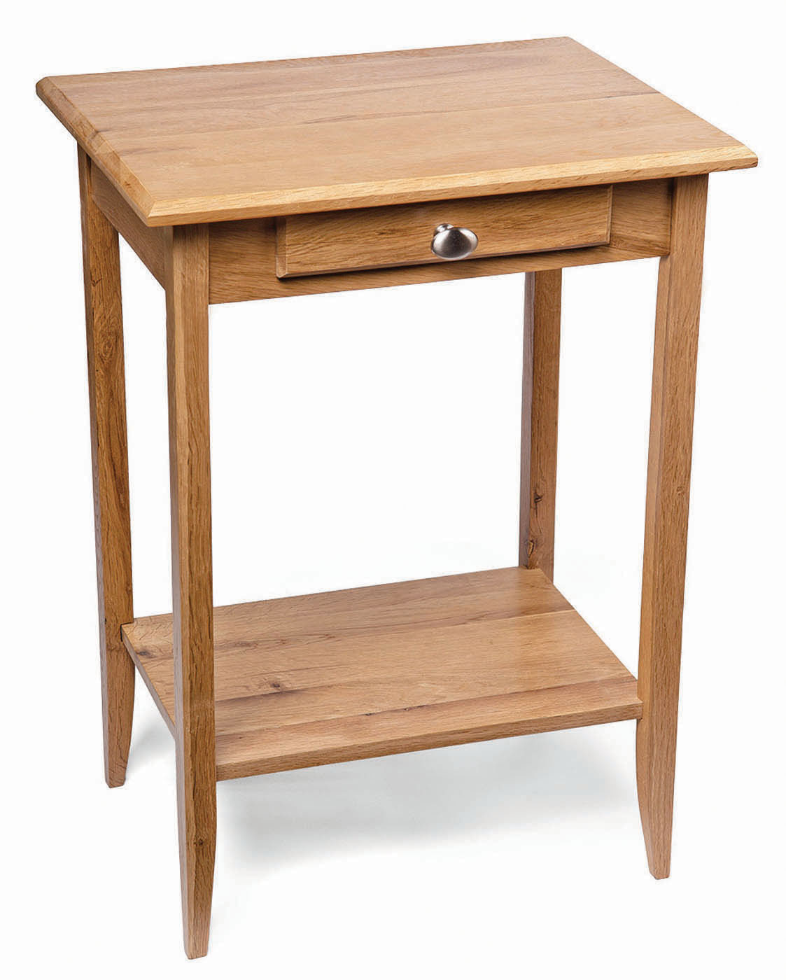 Small Oak Console Table Solid Wood Telephone Bedside