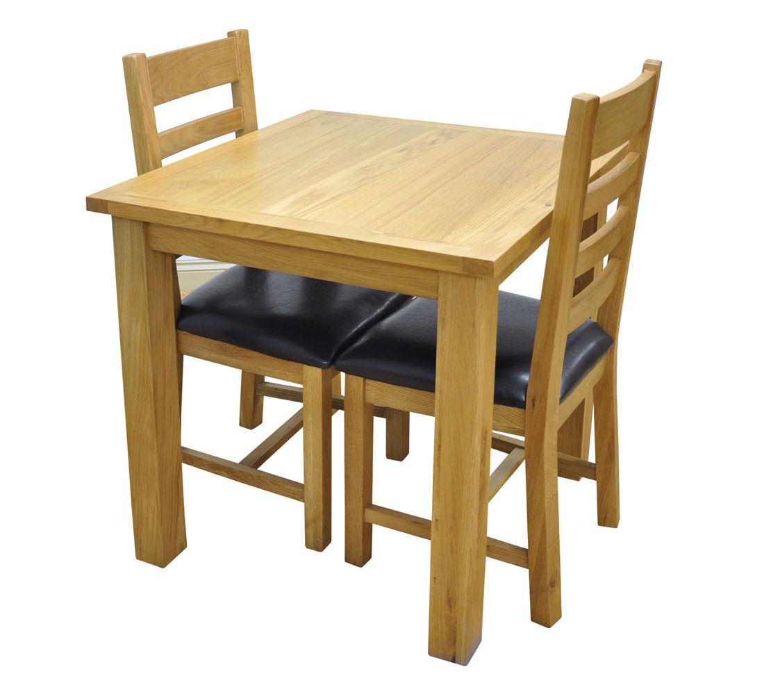 Small Oak Fixed Dining Table Light Oak 2 Seater Square  : lightoaksmallfixedtablewarwickwar tabswan sfttsetladderback1 from www.ebay.co.uk size 1100 x 996 jpeg 122kB