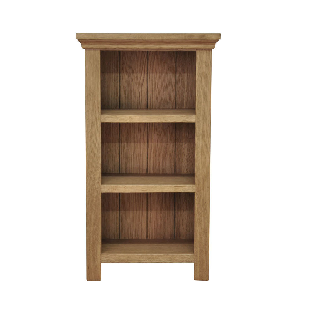 Small Narrow Oak Bookcase Light Oak 3 Shelf Storage