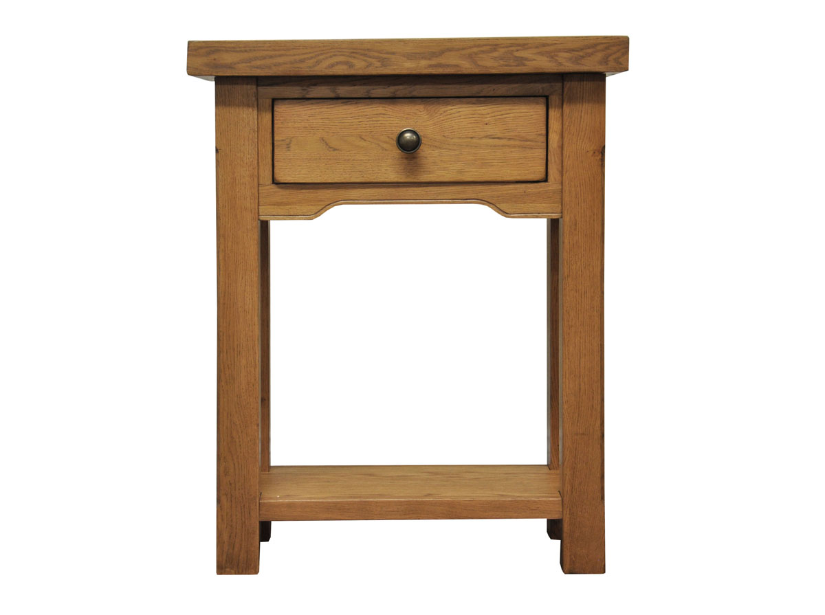 ... Console Table Light Oak | Wooden Side Lamp Telephone Stand | eBay