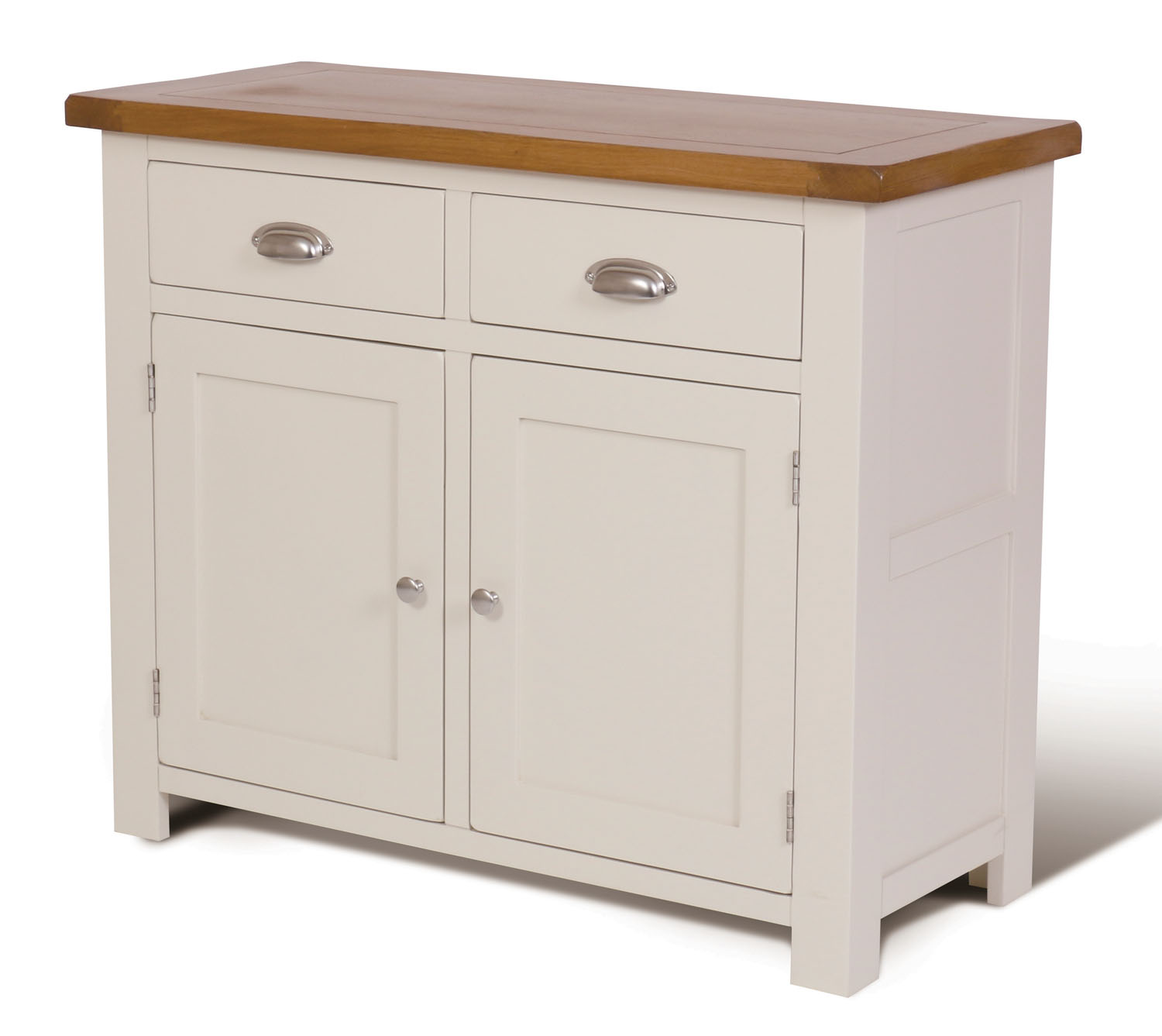 Painted Wooden Sideboard ~ Small white painted oak sideboard narrow wooden