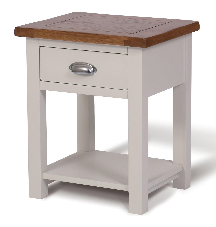 white painted oak side table wooden lamp table bedside cabinet nigh. Black Bedroom Furniture Sets. Home Design Ideas