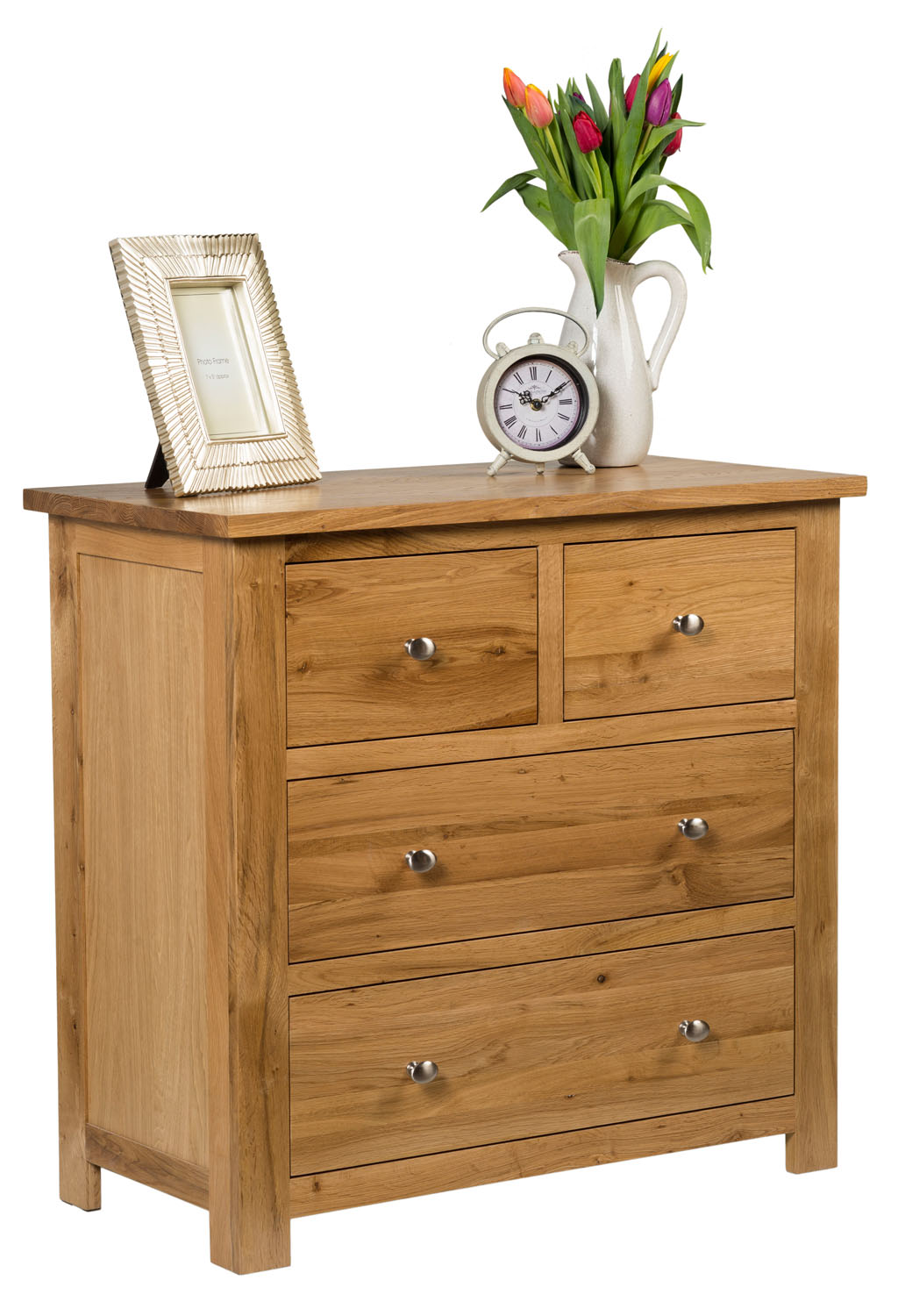 Small Oak Chest Of Drawers Solid Wood Low Childrens Kids Bedroom Furniture Ebay