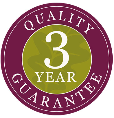 3 Year Guarantee Logo