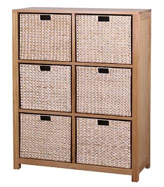 Waverly Oak 4 Basket Storage Unit