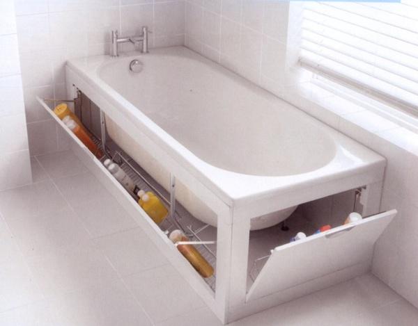 Bath with storage