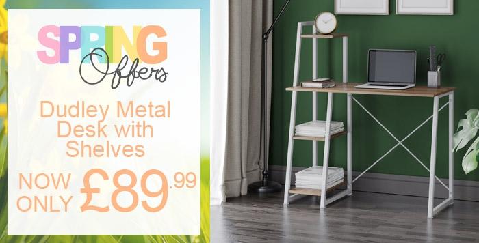 dudley metal desk witwh shelves