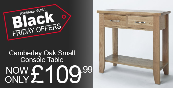 Camberley Oak Small Console Table