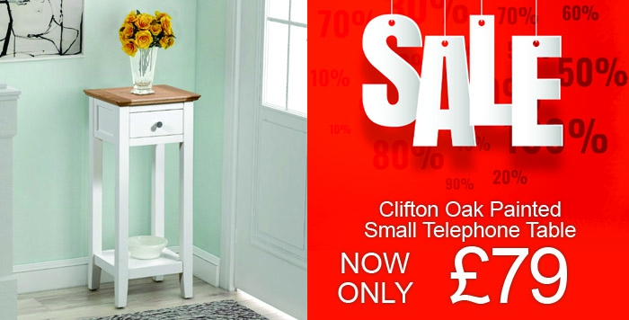 clifton painted small telephone table