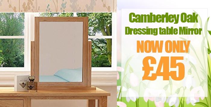 Camberley Oak Dressing Table Mirror