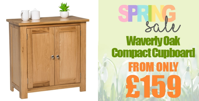 waverly oak compact 2 door cupboard=U