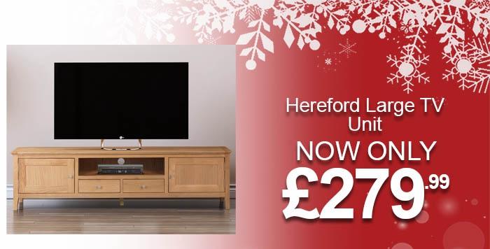 Hereford Oak TV Unit