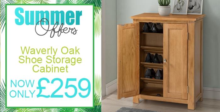 waverly oak shoe storage cabinet