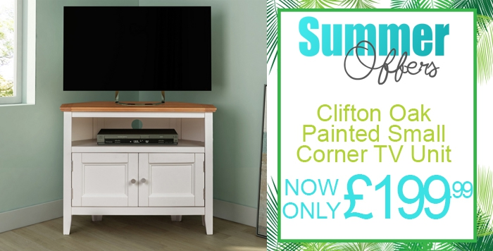 clifton oak painted small corner unit