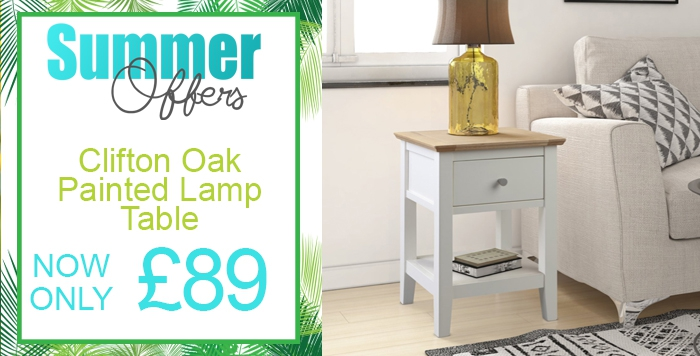 clifton painted lamp table