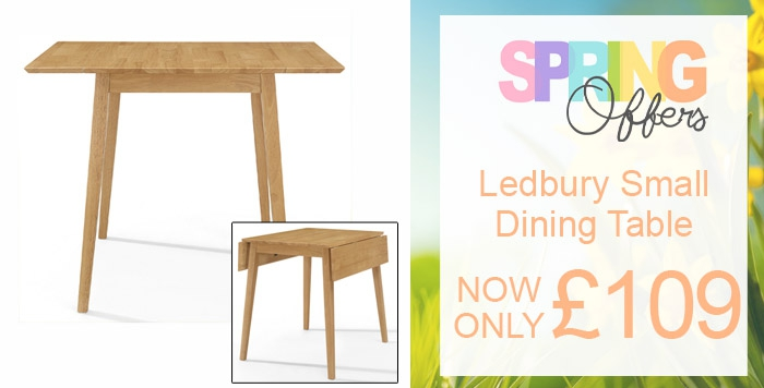 ledbury rectangular drop leaf table