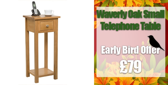 waverly oak small telephone table