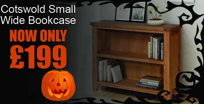 Cotsowld Small Wide Bookcase